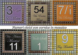 Numero civico via incisi su piastrella di ceramica e mosaico ebay