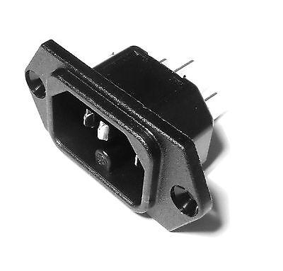2 x Embase secteur europe IEC male a clipser 1,5mm                      FSCSMC//1