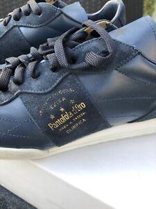 Pantofolo d'Oro Sneakers Olimpica Low Vitello suede medieval-blue navy neu EU 43