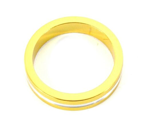 Fahrrad Aluminium Spacer 5mm gold silber Alu 1 1//8 Zoll 4g 1 Stück