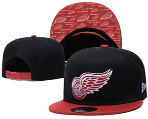 Detroit-Red-Wings-NHL-Hockey-Embroidered-Hat-Snapback-Adjustable-Cap