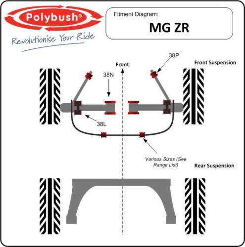 for MG ZR Polybush Vehicle Bush Set Front Suspension 1995-2005: Kit88