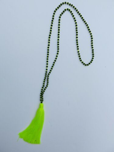 Beautiful Glass Beaded Tassel Necklaces From Bali Indonesia