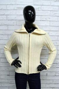 Maglione-Donna-GAS-Taglia-M-Pullover-Sweater-Woman-Beige-Lana-Cardigan