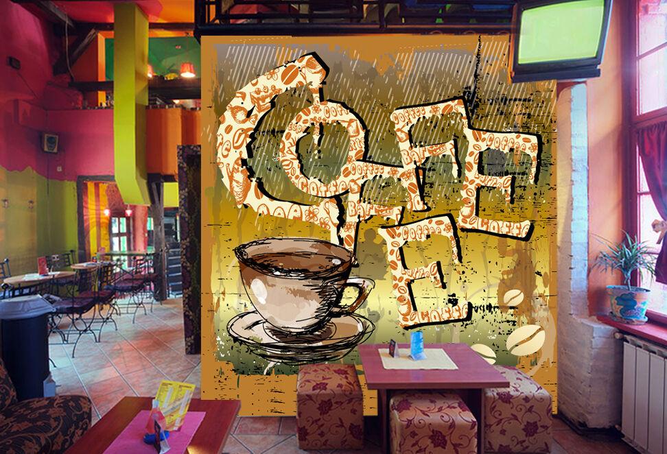 3D Letter Coffee 722 Wallpaper Mural Paper Wall Print Wallpaper Murals UK