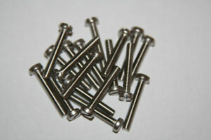 20-PIECES-M2-5-0-45-X-4MM-THRU-25MM-STAINLESS-STEEL-CHEESE-HEAD-SLOTTED-M-S