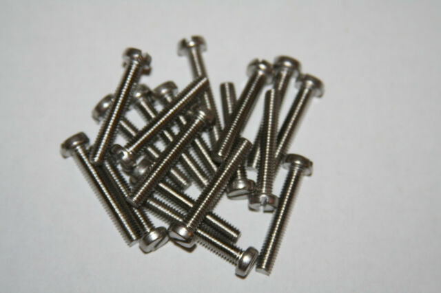 20 PIECES  M2.5-0.45  X 4MM THRU 25MM  STAINLESS  STEEL CHEESE HEAD SLOTTED M/S