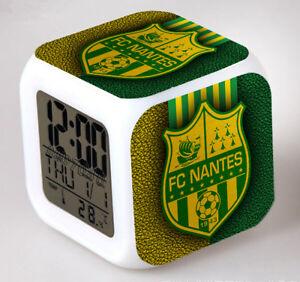 Reveil-numerique-Digital-FC-NANTES-Cube-a-effet-lumineux-alarme-football