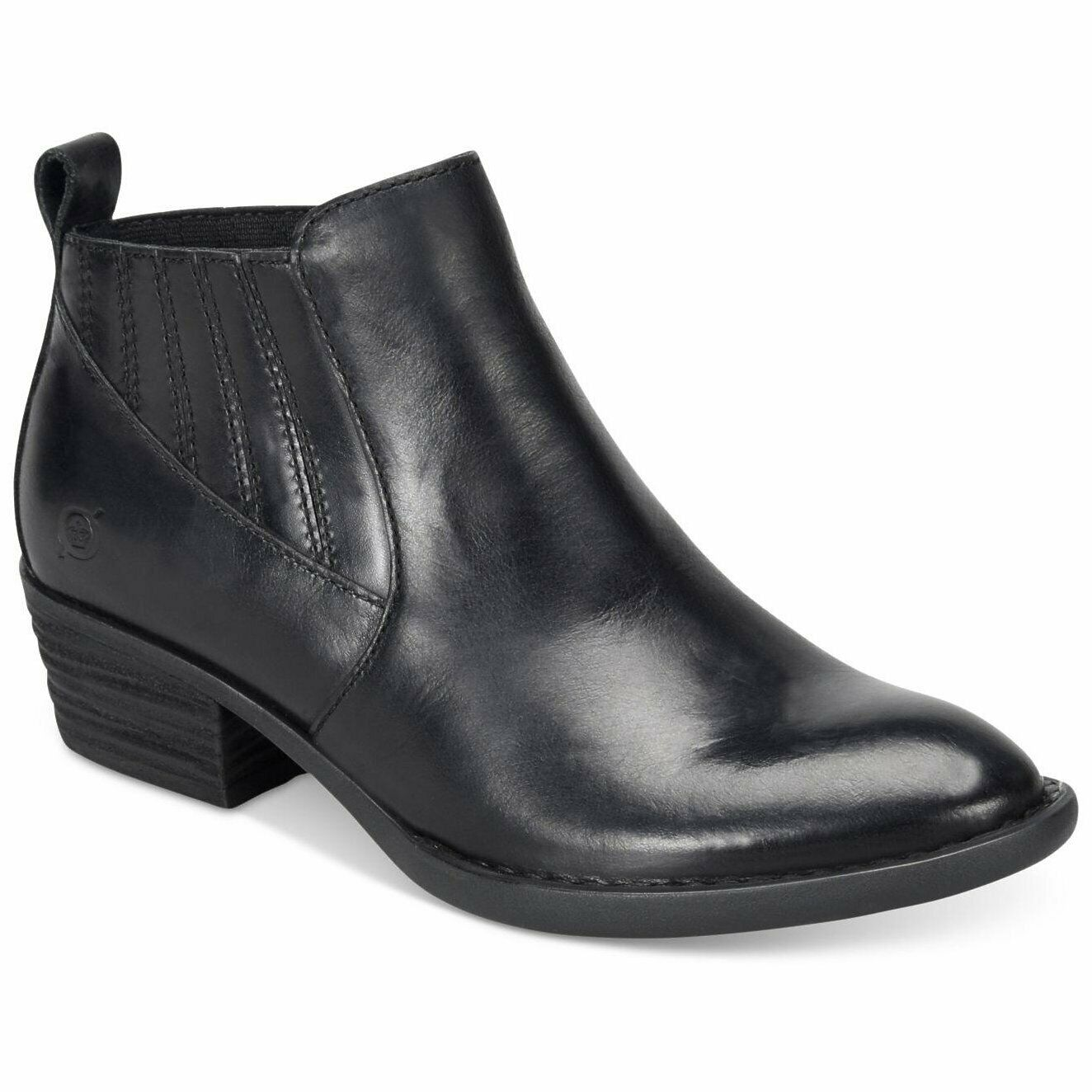 Born Beebe Beebe Beebe Leather Ankle Boots Pointed Toe BLACK Leather Faashion Size 6 M 4ea065