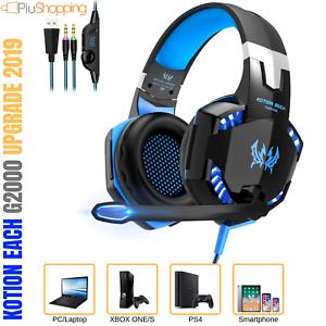 CUFFIE-GAMING-PER-PS4-PC-XBOX-ONE-S-MAC-CON-LED-MICROFONO-VOLUME-SPLITTER-AUDIO
