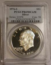 1976-S PCGS PR69 DCAM Deep Cameo Proof Silver Eisenhower Ike Dollar
