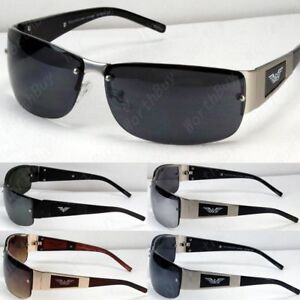 5f8397f8b32 Image is loading New-Mens-Womens-Rectangular-Eagle-Fashion-Rimless- Sunglasses-