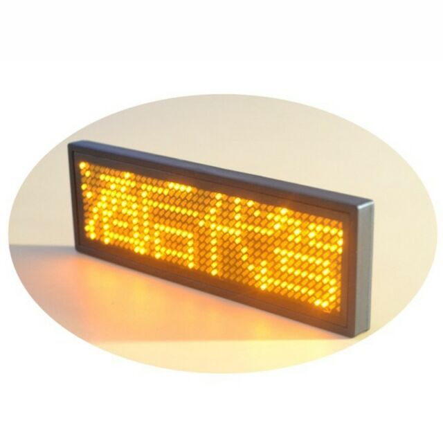 11x44 Pixels Programmable LED Digital Scrolling Message Name Tag Id Badge E7Y9