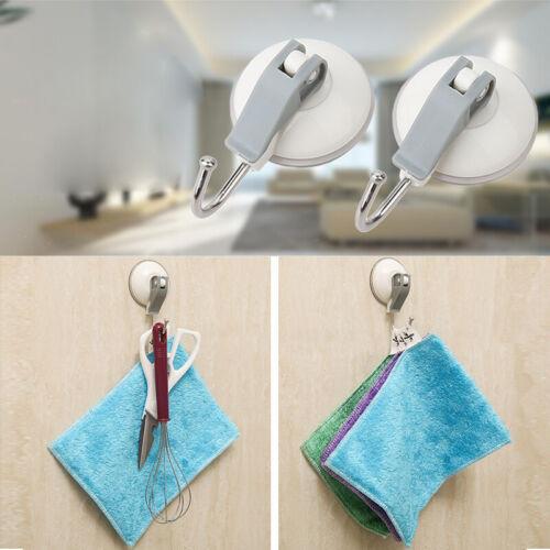 4Pcs Vacuum Suction Cups Shower Towel Hooks Bathroom Kitchen Wall Door Hangers