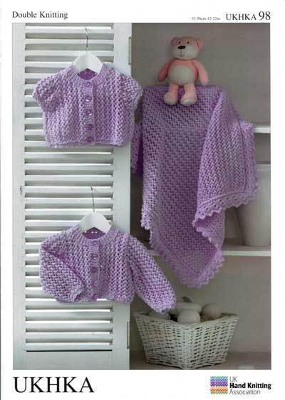 708cd1fb2709c5 VAT Hand Knitting Pattern DK Baby Child Blanket Cardigans Ukhka98 for sale  online