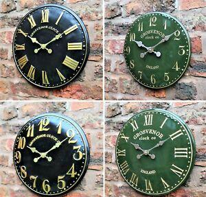 Extérieure Intérieure Jardin Vert Horloge Murale Horloge église Peint à La Main-afficher Le Titre D'origine Prix De Rue