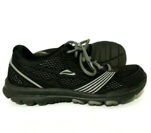 Mens-Abeo-Lite-Running-Shoes-Sneakers-Black-Gray-Size-8
