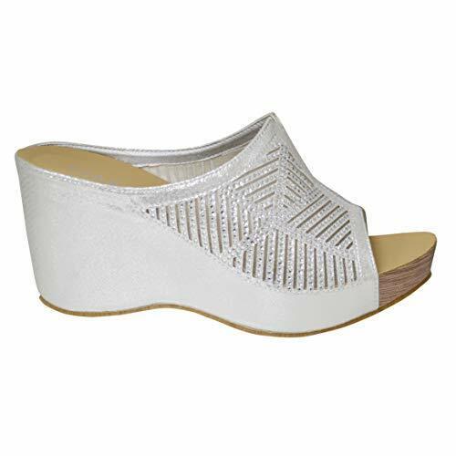 Ladies Slip On Comfort Insole Sequins Summer Wedge Sandal