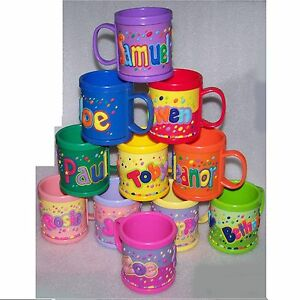Details about Girl/Boys Childrens 3D Personalised Name Plastic Cup/Mug New  Perfect Gift
