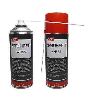 SPRÜHFETT WEISS 400 ml Schmierfett Weisses Kettenspray sehr hohe Haftkraft
