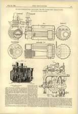 1888 Nuovo motore a vapore ad alta pressione CALDAIA TIRAGGIO FORZATO H Turner Liverpool