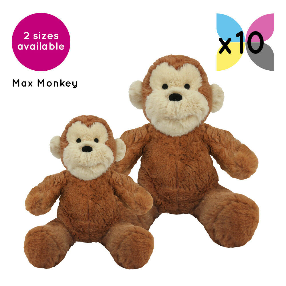 10 Max Monkeys Cuddly Soft Toys Without Clothing Blank Plain Plush Gift Gifts