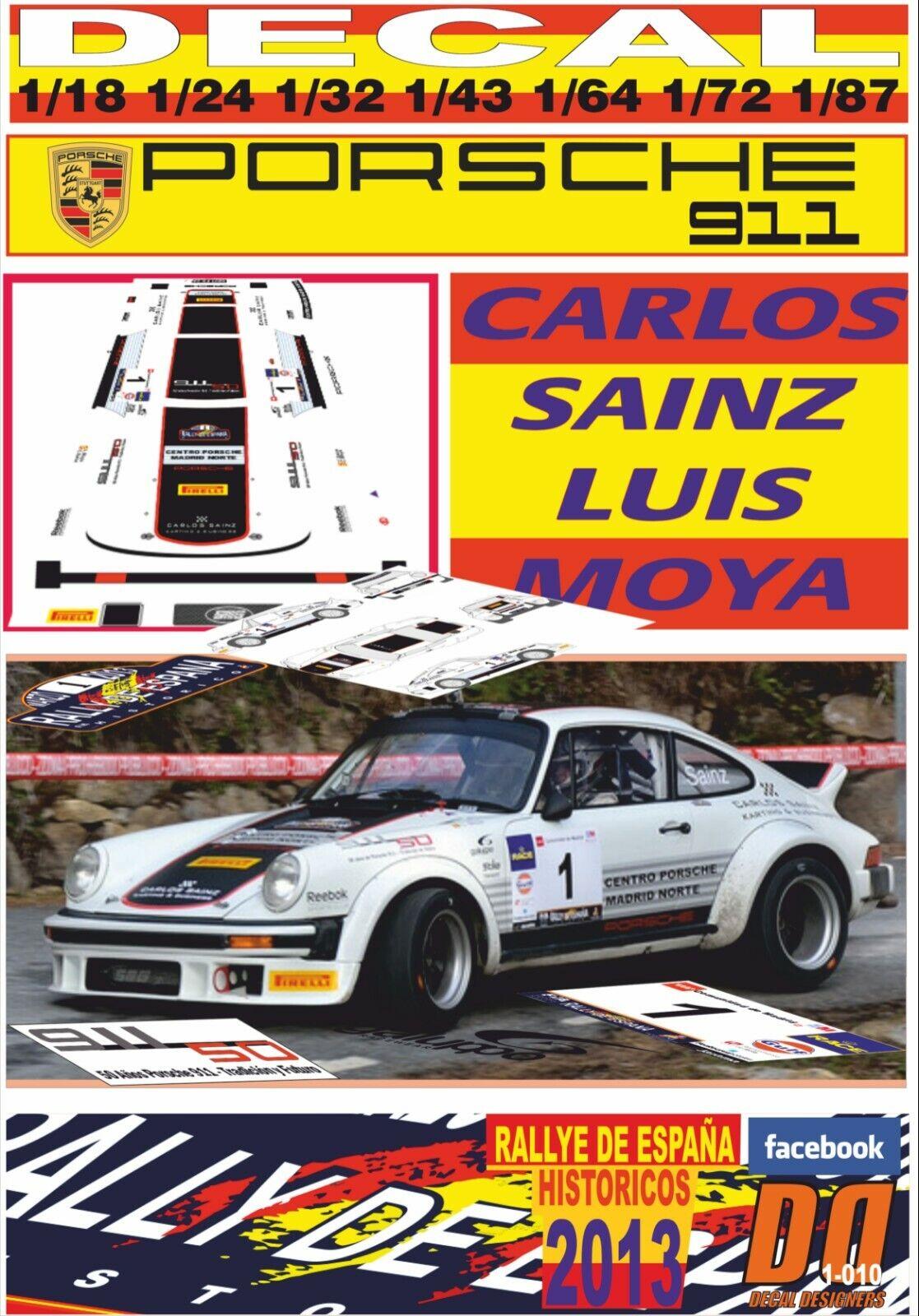 R  SAINZ CARLOS RS 911 PORSCHE ESPAÑA DECAL (09) WINNER 2013