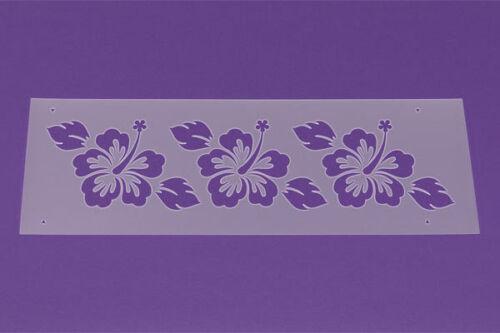 Schablone XL Bordüre Hibiskus Blüte Ranke LB10