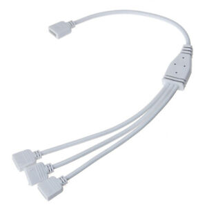 Cool 1 To 3 Connector Femal Cable Wire 4 Pin Splitter For Rgb Led Strip Wiring Digital Resources Funiwoestevosnl