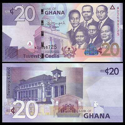 5  Cedi P New 2014-2015 UNC Low Shipping GHANA 3 Notes set 1 2