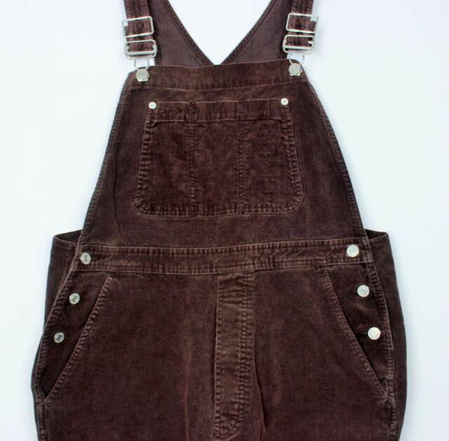 a1ade64a374 VTG GAP LADIES BAGGY WOMENS BROWN CORDUROY DUNGAREES LARGE OVERSIZED HIPSTER
