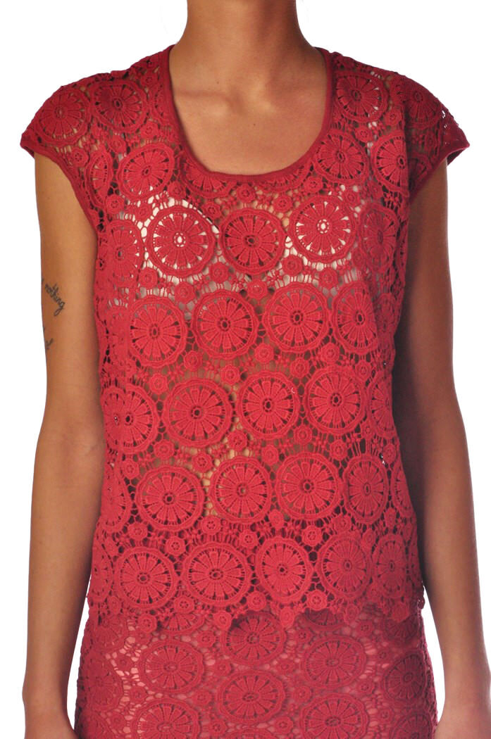 Mercì - Topwear-T-shirts - frau - Rot - 822918C184355
