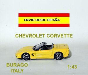 CHEVROLET-CORVETTE-ESCALA-1-43-BURAGO-ITALY-CARRERA-COCHES-MAQUETA-DIORAMA