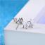 Orecchini-Donna-Stelle-Cristallo-Punto-Luce-Paio-a-Bottone-Swarovski-Idea-Regalo miniatura 5