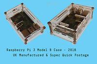Screw Case CLEAR RASPBERRY PI 3 B, B+ (2016) Enclosure Box- RPI 3B- Fast Post UK