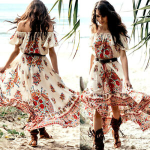 Women-Summer-Vintage-Boho-Long-Maxi-Evening-Party-Beach-Dress-Floral-Sundress-US