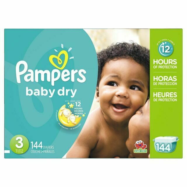 Pampers Baby Dry Diapers Size 3 144 Pieces