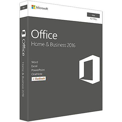Microsoft Office:mac Home & Business 2016, Keycard, deutsch