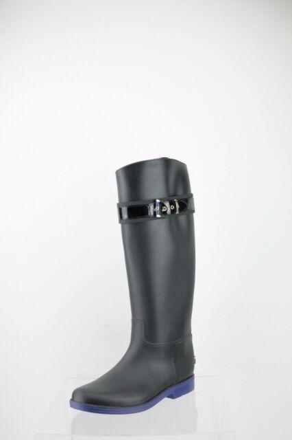8cd9db49d78e00 Women s Tommy Hilfiger Spritz Shoes Black Rubber Rain BOOTS Size 8 M ...