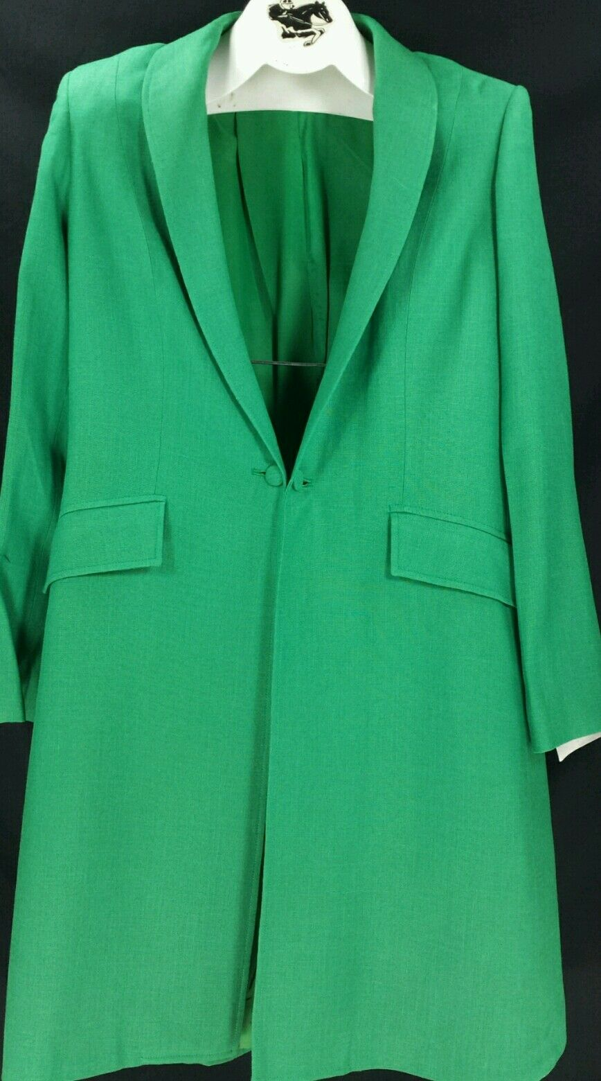 Reed Hill Ladies Saddleseat Day Coat EMERALD GREEN Linen  Blend 10- USA