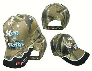 TOPW Bible Man of Faith Jesus God Black Embroidered Cap Hat CAP832