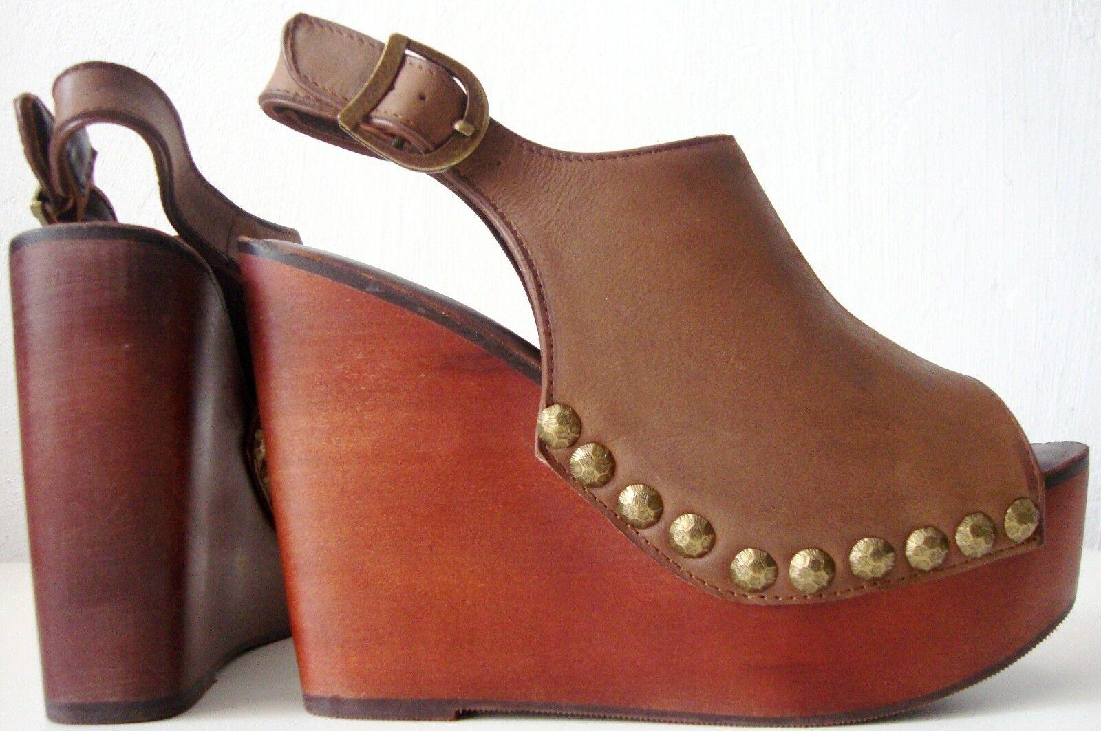 Jeffrey Campbell nietas Stud Platform sandals damas damas damas plataforma zapatos cuero gr39 nuevo  ventas en linea
