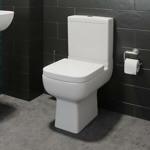 Close-Coupled-Bathroom-Toilet-WC-Modern-White-Square-Ceramic-Soft-Close-Seat-Pan