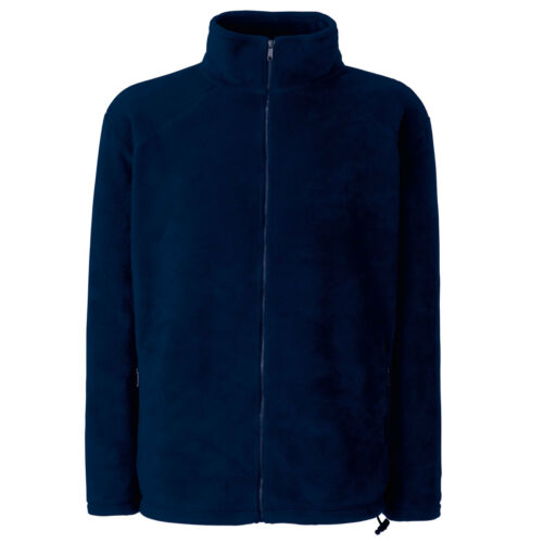 Mens Fruit of the Loom Polyester Full Zip Fleece Jacket Top