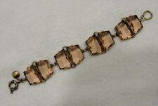 J CREW Faceted glaçon bracelet Peach Blush RARE Hard To Find Jewelry Stones