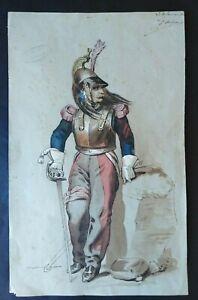 dessin-ancien-militaire-1880-cuirassier-ecole-polytechnique