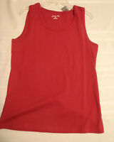 St John's Bay Mens Medium Red Sleeveless Cotton Tank Top Shirt