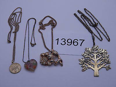 Vintage Jewelry LOT OF 4 Necklaces GOLD TONE 13967
