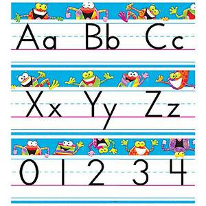 frog tastic abc alphabet line school classroom display border