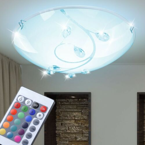 Farbwechsler LED RGB Decken Kristall Muster Leuchte FFERNBEDIENUNG Lampe Dimmbar
